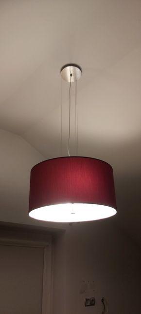 Lampa wisząca, sufitowa bordowa