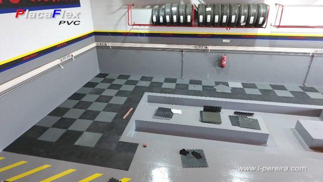 Pavimentos em PVC para interiores de encaixes rápidos