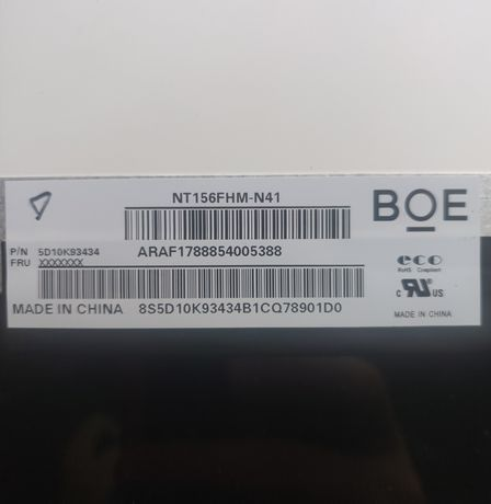 """Матрица для ноутбука 15.6"""", slim (тонкая) 30pin, eDP, экран"""