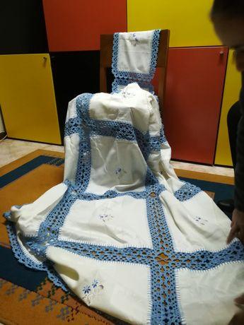 Toalha Mesa Renda Azul