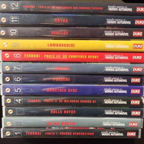 DVDs carros coleção 12 DVDs