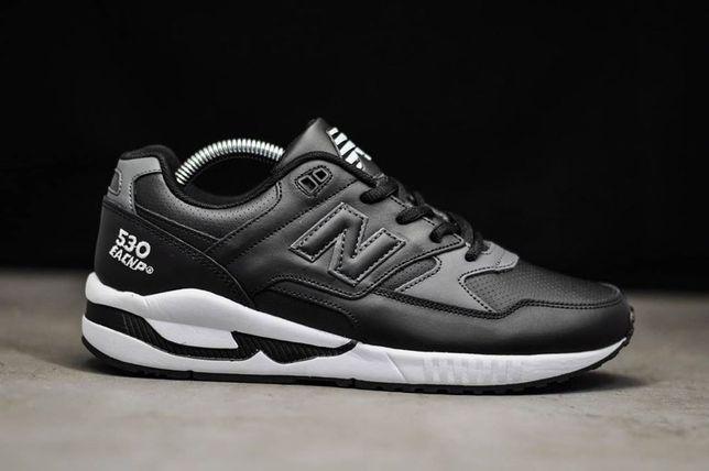Кроссовки черные мужские New Balance 530,New Balance 574,кожаные