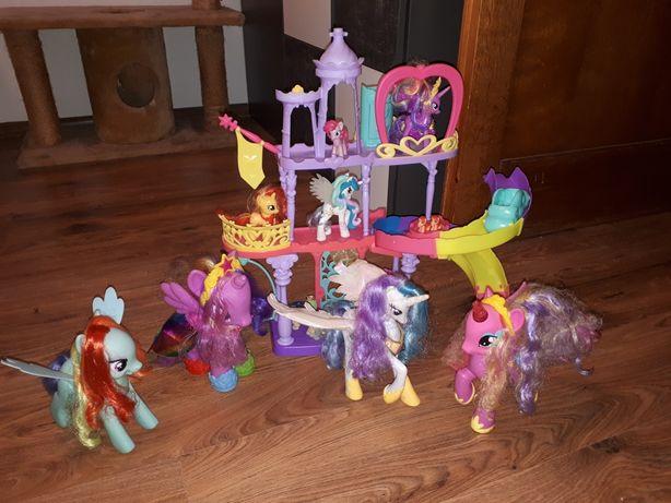Zamek my little pony i 4 duze kucyki