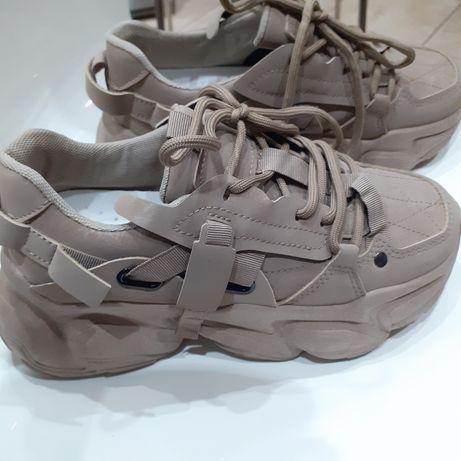 Sneakersy beżowe