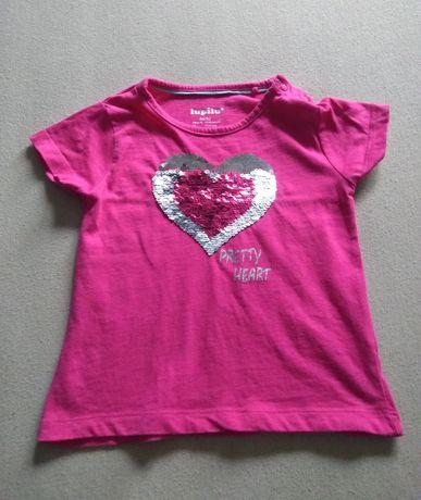Śliczna bluzeczka różowa Lupilu