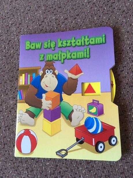 Nów Książka z kółkiem Baw się kształtami z małpkami Kształty figury