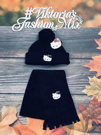 Комплект шапка + шарф Hello Kitty Original Marines, 52р; 54р