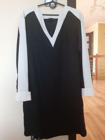 sukienka biało-czarna 46