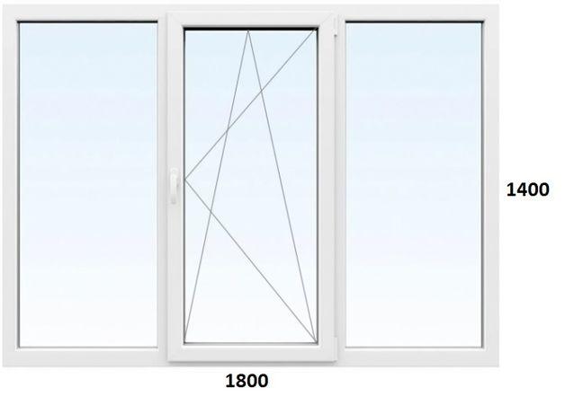металопластикове вікно окно вакуумне відкривне поворотно відкидне нове