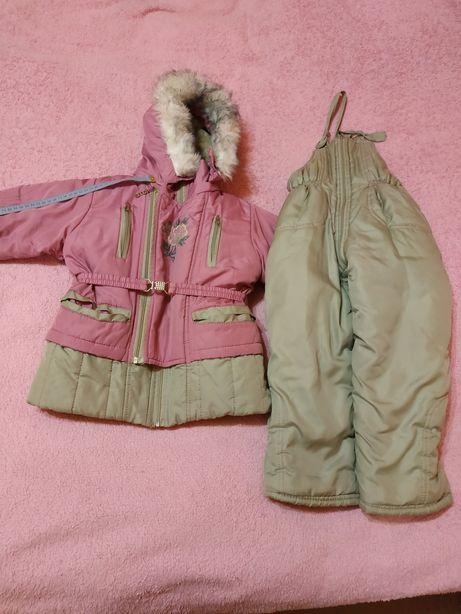 Зимний комбинезон для девочки от 6 месяцев до 2 лет