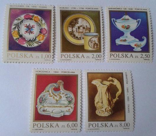 Znaczki pocztowe (gł. skasowane) PORCELANA I CERAMIKA - różne kraje