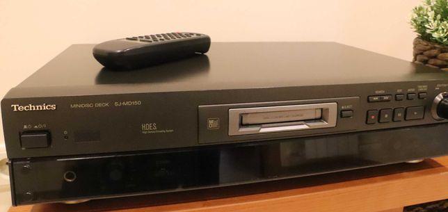 Leitor Minidisc Technics SJ-MD150 + 10 MD80 Sony