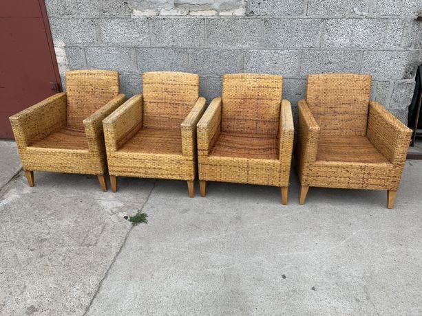 Fotele wiklinowe tarasowe ogrodowe