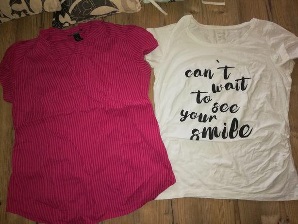 Bluzki ciążowe L,koszulki