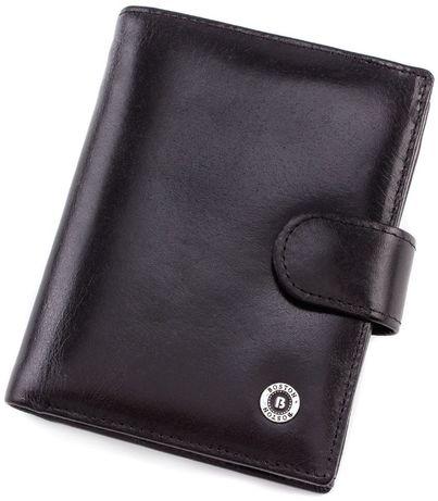 Мужской вертикальный кошелек из гладкой кожи BOSTON из турция.