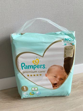 Pampers premium care 1 78шт новые