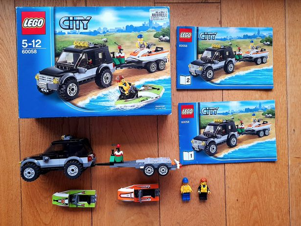 Klocki Lego CITY 60058 Terenówka ze skuterami. Jeep Skuter. Ciężarówka