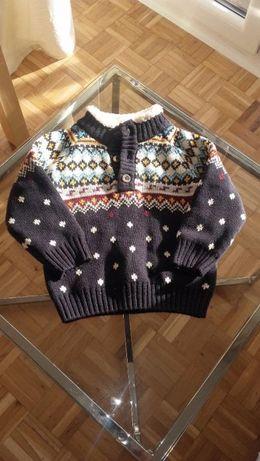 sweterek chłopięcy C&A, ciepły, rozmiar 80, stan idealny