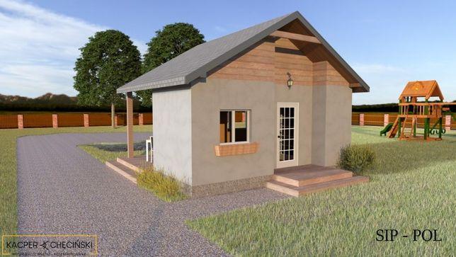 domek na zgloszenie 35m2 dom caloroczny panele sip produkcja SIP-POL