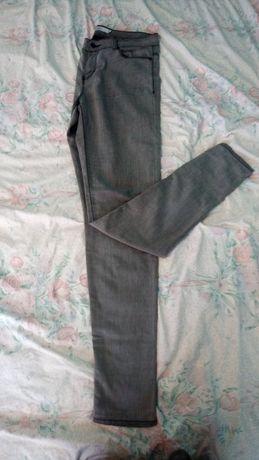 Szare rurki jeans