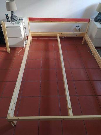 Estrutura de cama em pinho