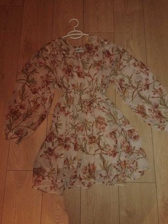 Sukienka ciążowa h&m wiązana pod brzuchem s/m