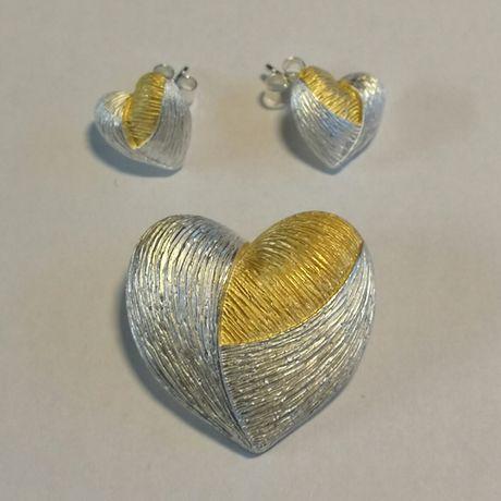 Zawieszka i kolczyki srebro 925 srebrne z pudełkiem na prezent nowe