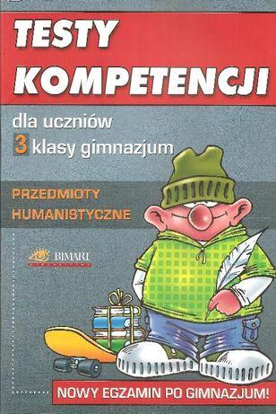Test kompetencji dla 3 klasy gimnazjum przedmioty humanistyczne Bimart