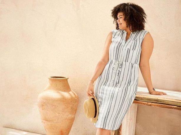 Платье сарафан батал большой размер льняной esmara Германия