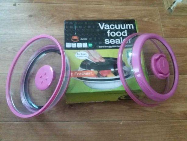 Вакуумная крышка Vacuum food sealer многоразовая 19 см