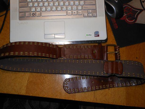 Натуральный кожаный новый ремень Англия,фурнитура-бронза