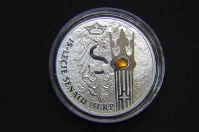 Moneta kolekcjonerska srebrna 20 zł 15-lecie Senatu III RP