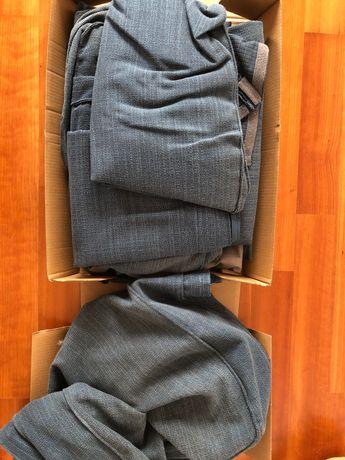 Capa azul sofá Kivik 3 lugares + capa repousa-pés (tudo IKEA)