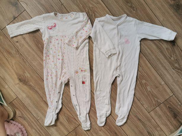 Pajace piżamki r. 80 ze stópkami