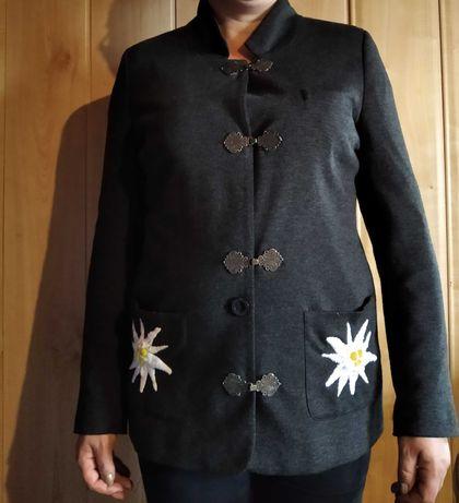 Żakiet góralski z ręcznym haftem szarotki