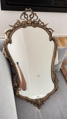 Espelho Antigo Todo Em Bronze