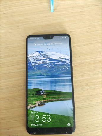 Huawei P20 pro sprawny, pekniety wyświetlacz
