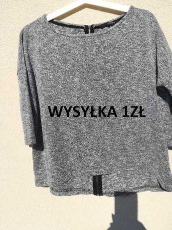 Sweter sweterek szary Reserved r. S z suwakiem z tyłu