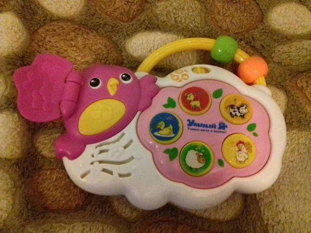 Музыкальная игрушка птичка. Песенка, звуки животных.