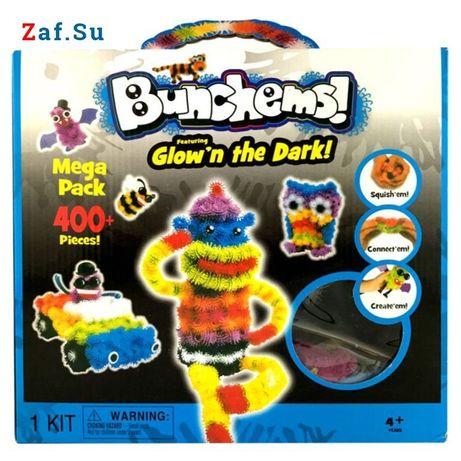 Ігра конструктор Bunchems Mega Pack 400+ pieces светится в темноте