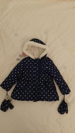 Еврозима синяя куртка курточка на девочку 2-3года George