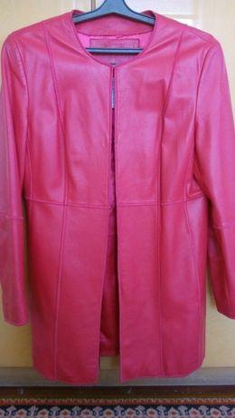 Кожаная новая курточка