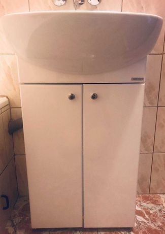 Umywalka łazienkowa z szafką - bdb stan