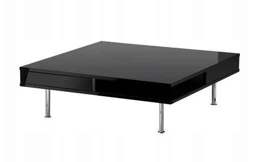 IKEA TOFTERYD stolik kawowy 95x95cm połysk czarny stan idealny