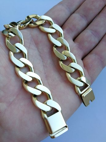 Złota bransoletka 585. 103.8 gr. 23 cm. Jak nowa.