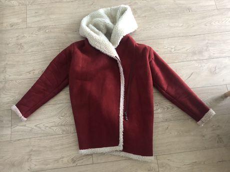 Czerwony bordowy kożuszek Anoi 38 stan bdb