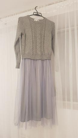 Sukienka S/M sweterek tiul