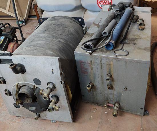Kocioł olejowy Vitola 33kW, zasobnik Vitocell 200l, zbiornik 3200l