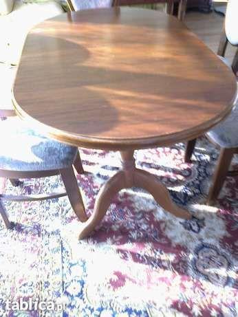 Stół Carol dębowy lite dąb drewno dębowe rozsuwany składany