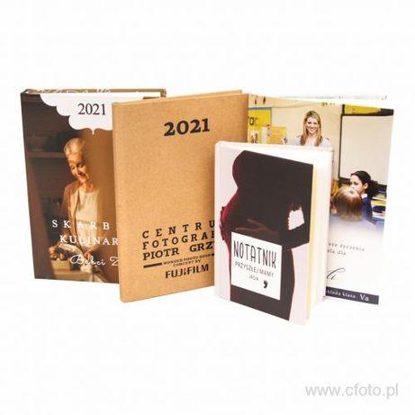 Kalendarze książkowe, organizer - własny projekt okładki ze zdjęciami